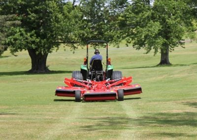 QuikLift feature enables mower decks to be raised whilst turning